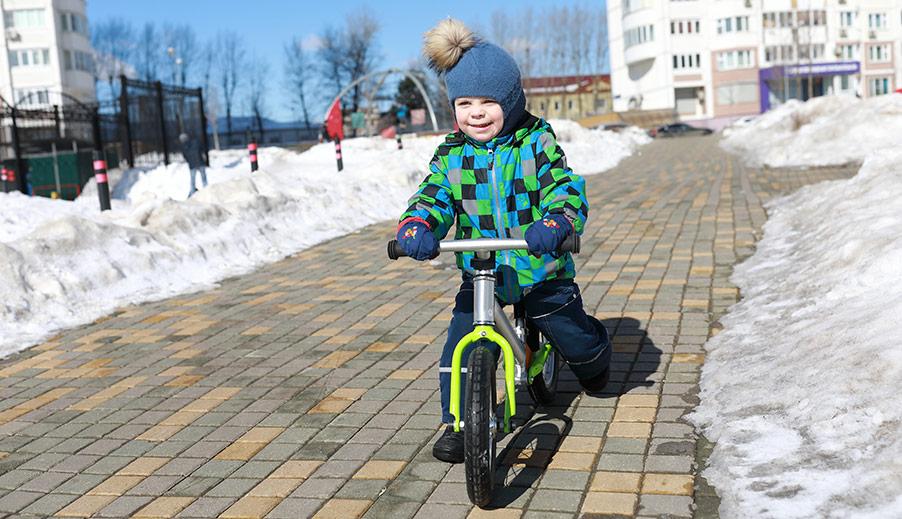 Att börja cykla själv